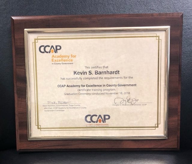 2018 CCAP Academy for Excellence in County Government
